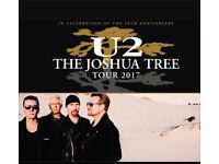 U2 seating tickets