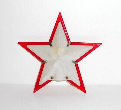 Vintage Christmas PARAMOUNT STAR Light Tree Topper Hard Plastic Red White 5 Inch