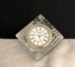 """Waterford Crystal Small  2.5 """" Cube Clock"""