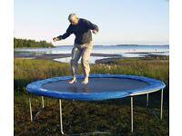 Metal frame trampoline for sale.
