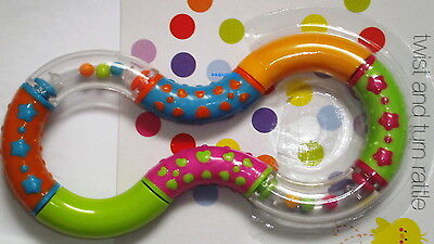 BPA FREE Twist and Turn Rattle Baby Rattles Toy Activity 6 month+ Teether Infant