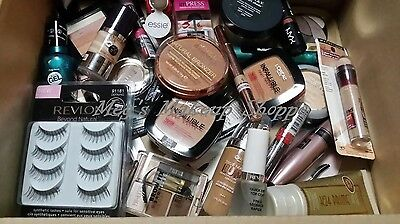 ✦✦ 50 PIECE NAME BRAND COSMETICS MAKEUP LOT ✦✦ CLEAN ✦✦ MAYBELLINE, REVLON, CG