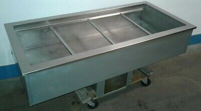 Delfield N8156b Commercial 4 Well Refrigerated 56x 26 Drop-in Cold Pan. Our 3
