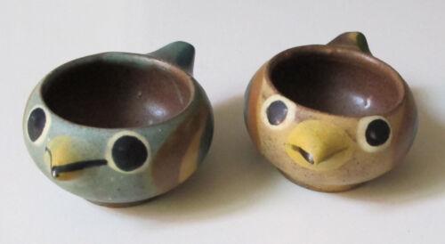 Dybdahl Denmark MCM Bird Chicken Egg Cups or Salt Cellars (2)