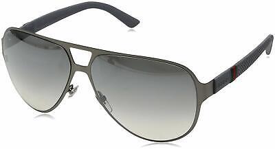 From NY! GUCCI Sunglasses GG 2252/S 4UYIC Ruthenium / Gray Gradient Aviator (Grey Aviators)