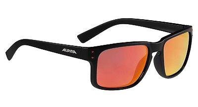 Alpina Kosmic Sonnenbrille Sportbrille Augen Schutz verspiegelt, black matt