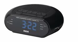 RCA LED Display Dual Alarm Clock AM/FM Radio Snooze Timer Battery Backup System