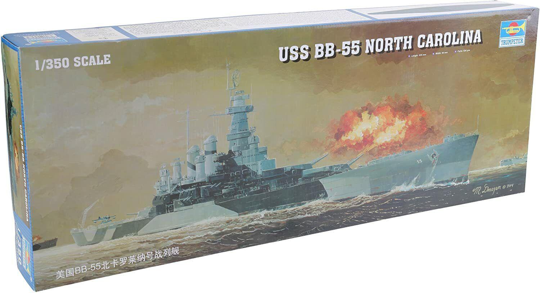 USS North Carolina BB-55 / 1:350 Trumpeter + Holzdeck und Metallfässern