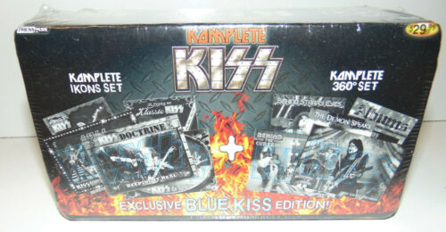 KISS IKONS COMPLETE Set Press Pass Trading Card 2009 BLUE EDITION Sealed Set NEW