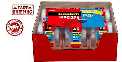 3m Scotch Clear Shipping Packing Tape 2x1000 6 Rolls Wdispenser Heavy Duty New