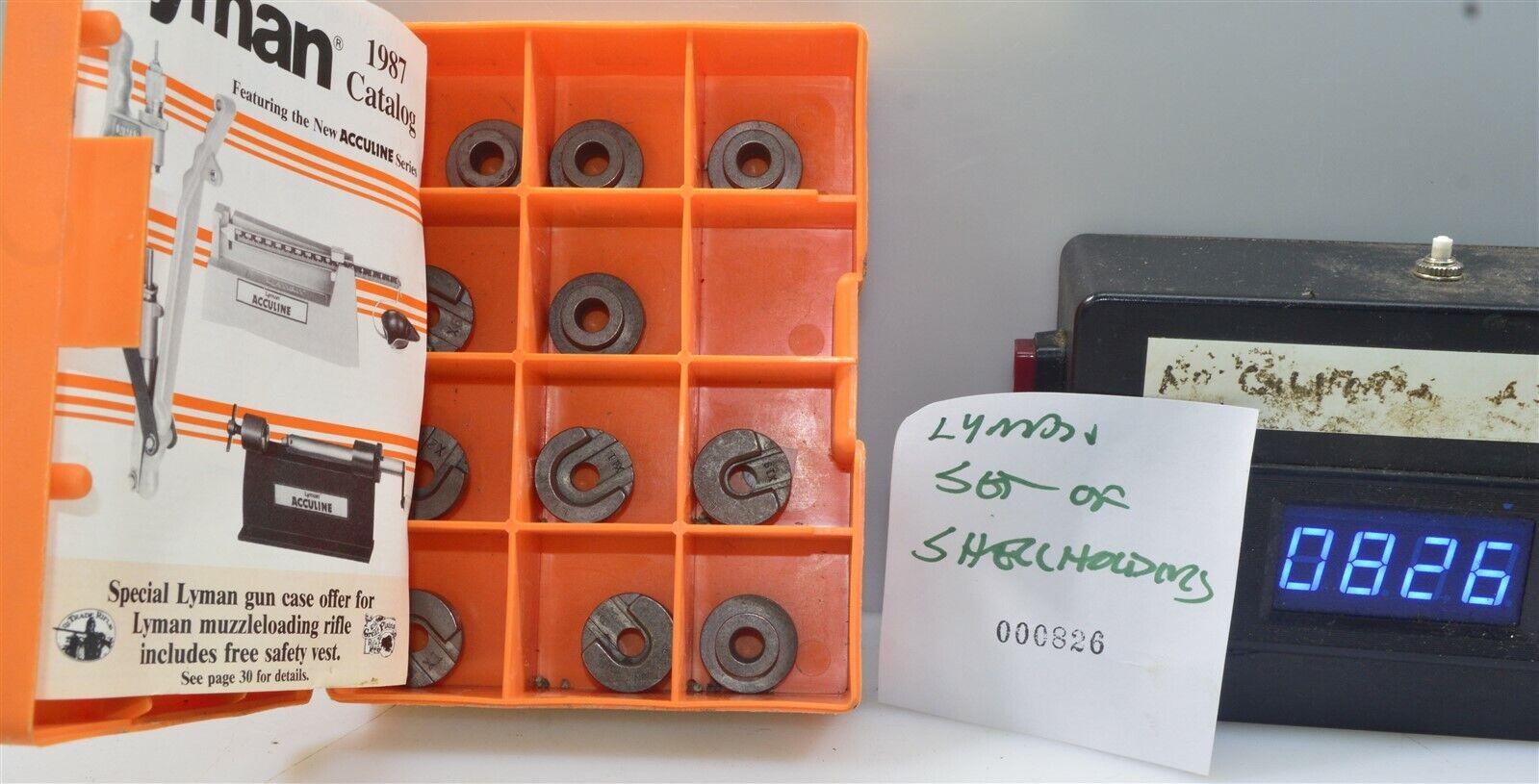 0826 Lot Of 11 Lyman Set Of Shellholders In Box - $26.00