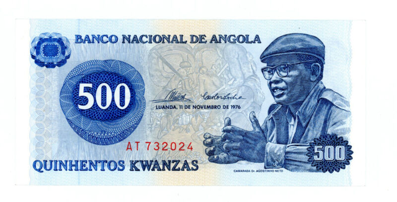 Angola … P-112… 500 Kwanzas … 1976 … *UNC*