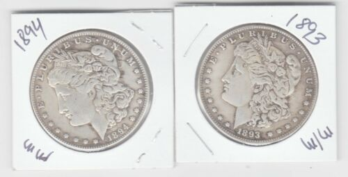 Two Headed 1893 1894 Morgan Magic Trick Coin - 1 COIN 2 Heads! WePayTheFreight!