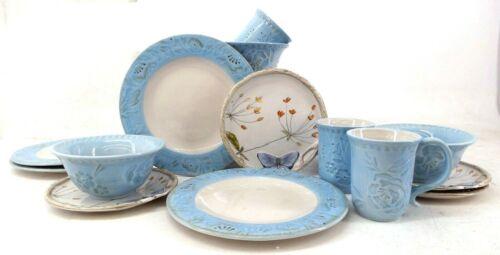 Fitz and Floyd Butterfly Fields 16-piece Dinnerware Set, Dishwasher Safe