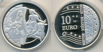 """BELGIQUE Belgium Belgie 10 € Euro 2004 """"Expansion de l'UE"""" QP PROOF *Argent"""