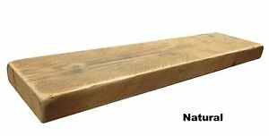 CHUNKY RUSTIC WOOD FLOATING SHELF SHELVES MANTEL CUSTOM RECLAIMED TIMBER/PINE
