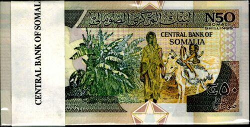 1991 Somalia 50 SHILIN Bundle Uncirculated 100 Notes