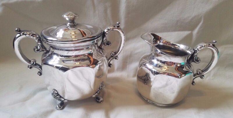 Barbour Silver Co. Quadruple Coffee/Tea Cream and Sugar Set (1021, 1022)