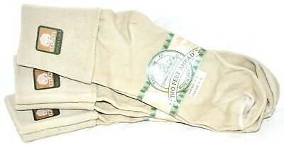 Taupe Womens Socks (Two Feet Ahead Taupe Anklet Turndown Socks 3Pr Women's Size 9-11 Made in USA!! )