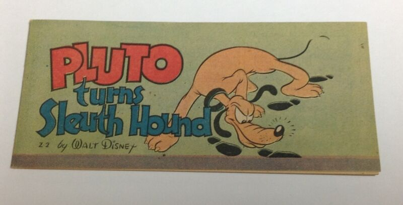 "1947 Cheerios Walt Disney ""PLUTO turns Sleuth Hound"" "" premium comic VF+ Z-2"