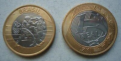 Olympia 2016 Rio 1 Real Münze Coin Brasilien Sondermünze Boxen Boxing (Münze Brasilien)