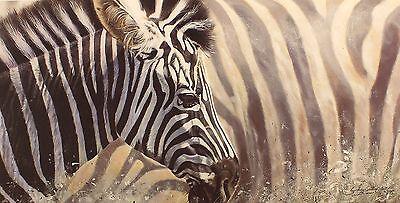 "LYNDSEY SELLEY ""Mix & Match"" zebra africa SIGNED LTD ED SIZE:39cm x 65cm NEW"