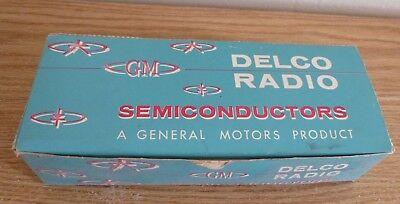 Vintage Delco Radio Dtg2400 Transistors 1973 Nos Nib Made In Usa Set Of 6