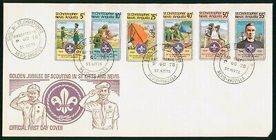 Mayfairstamps St Christopher Nevis Anguilla FDC 1978 Scouting Golden Jubilee Com