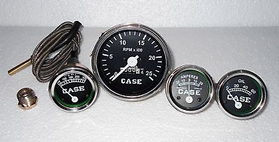 Case Tractor Gauge Set Tachometertemperature Ammeter Oil