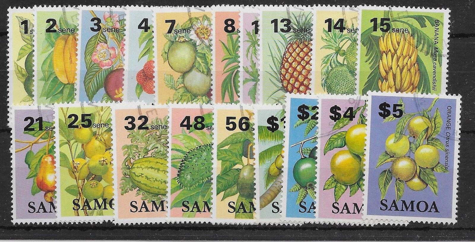 SAMOA SG647/65 1983 FRUITS DEFINITIVE SET USED