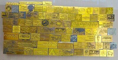 Lot Of 82 Letterpress Printing Blocks