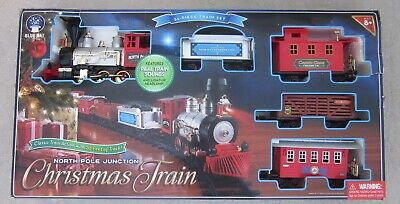 North Pole Junction 35pc Christmas Train Set - Holiday 20ft of Track - VGC!