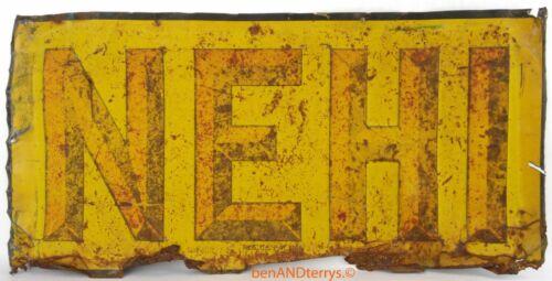 Nehi Soda Pop Bottle Tin Embossed Old Rusty Vintage Sign