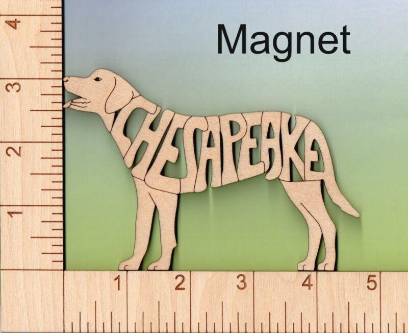 Chesapeake Bay Retriever Dog wood Magnet Great Gift Idea