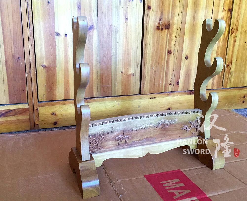 Wood Display Holder Table Desk Stand for Samurai Sword Katana Wakizashi Tanto