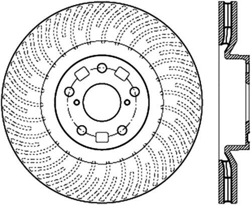 Disc Brake Rotor C Tek Standard Centric 121 44185 Fits 12 17 Lexus