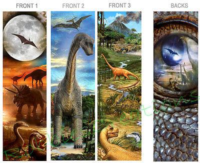3-DINOSAUR BOOKMARKS T-Rex PREHISTORIC Product ART Animal Book Mark Party Favor (T-rex Merchandise)