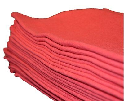 Auto Cleaning Shop - 50 PACK MECHANIC AUTO SHOP RAG CLEANING TOWELS RED COMMERCIAL NEW