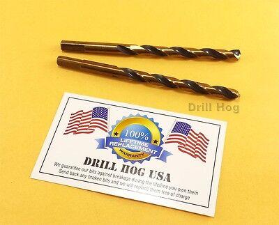 Drill Hog 13/64 Drill Bit 13/64 Molybdenum M7 HSS Twist Lifetime Warranty 64' Twist Drill Bit