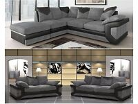 Luxury Jumbo Cord Fabric Dino Sofa 3+2 And Corner Sofa Suite Left / Right Hand Side