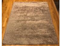 "Large Shaggy Rug Taupe/Beige 7ft4""x5ft3"""
