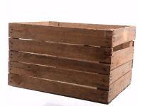 Wooden Apple Crates / Boxes Home Storage / Wedding Decor / Garden