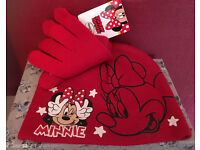 Kids hat and glove set Disney