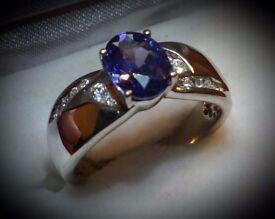 TGI Sterling Silver Crystal Ring.