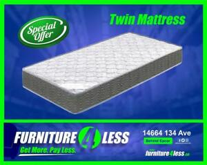 FURNITURE 4 LESS EDMONTON IS YOUR HOME FOR A GREAT DEAL ON NEW MATTRESSES AFFORDABLY PRICED!