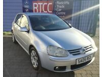 2005 (05 reg), VW Golf 2.0 TDI GT 5dr Hatchback, 3 MONTHS AU WARRANTY INCLUDED, £1,895 ONO