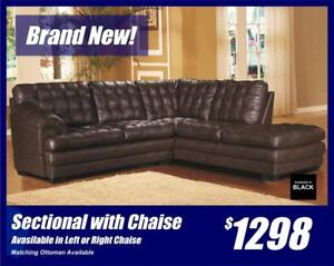 Classic Sectional with Chaise-Get it in Left or Right! Also Available in Black.