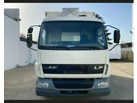 Left hand drive EU version DAF 7.5 tonne refrigerated cooling fridge truck LHD