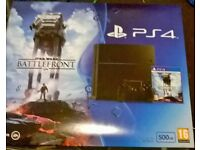 PS4 BRAND NEW IN BOX 500GB WITH CONTROLLER AND STAR WARS BATTLEFRONT
