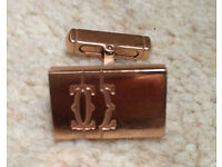 Cartier Cufflink Rose Gold comes in a box and bag